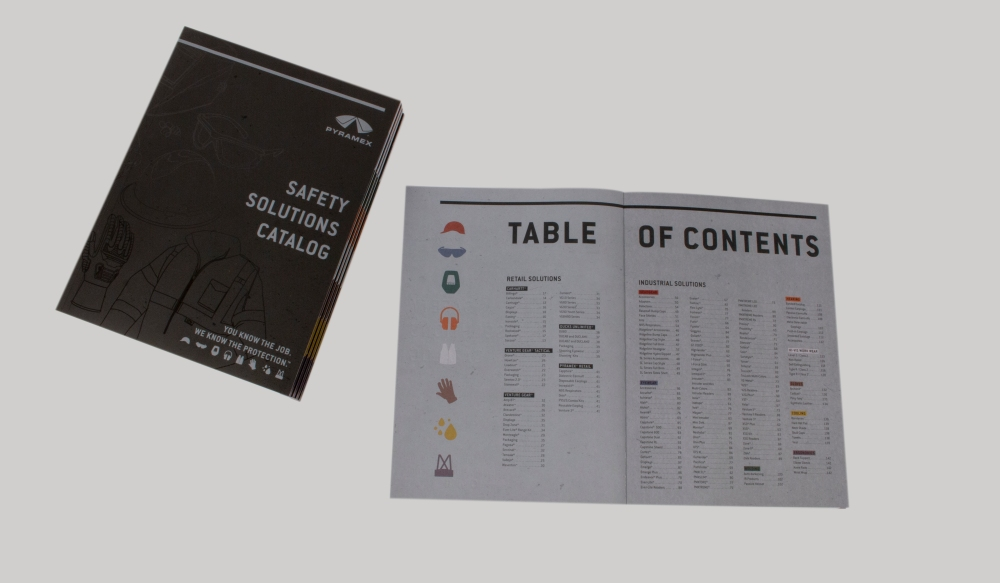 table of contents + cover